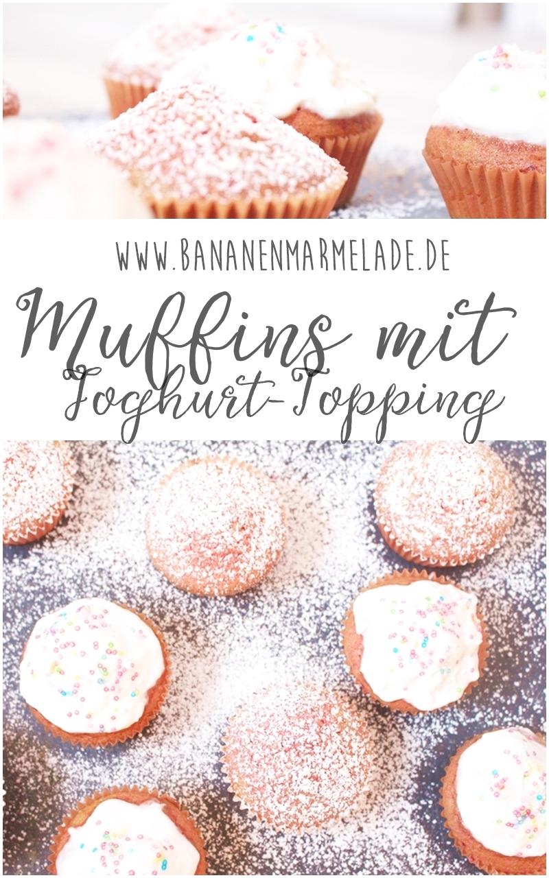 Die Idee waren zweifarbige Muffins, bei dem die Farben ineinander verquirlt sind. Die Umsetzung verlangt Fingerspitzengefühl, aber Streusel verzeihen alles.