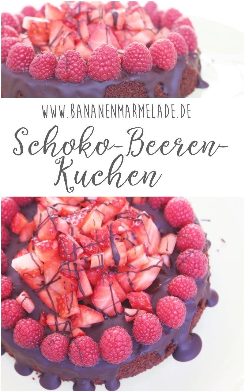 Rezept für einen Beeren-Schoko-Kuchen: Low Carb, kalorienarm und mega schokoladig!