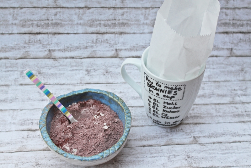 Brownies in a cup Geschenkidee DIY