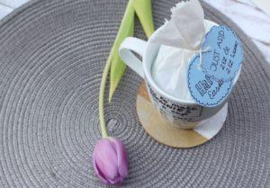 Brownies in a cup Geschenkidee DIY
