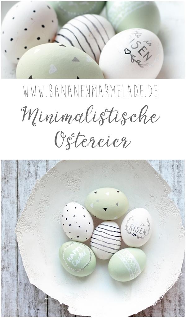 Minimalistische Ostereier