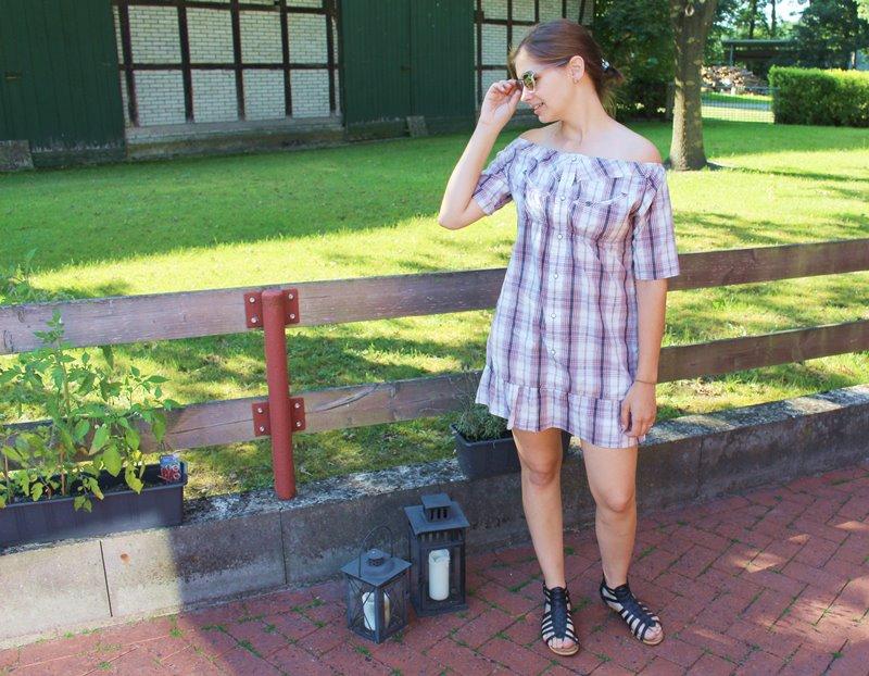 Sommerkleid aus einem Männerhemd