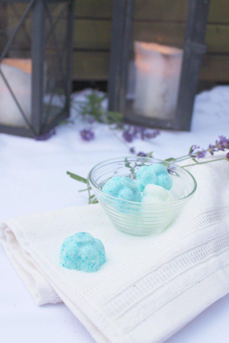 Lavendel-Badebomben