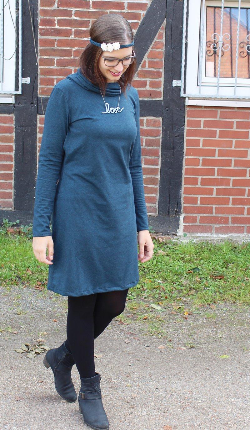 {genäht} Herbstkleid Else in blaugrün ...