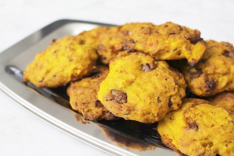 Kürbis-Cookies mit Schokolade