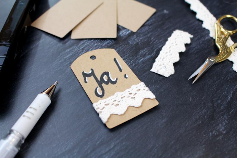Rustikale Hochzeitseinladungen aus Kraftpapier